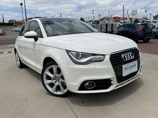 Used Audi A1 8X MY13 Ambition S Tronic Victoria Park, 2013 Audi A1 8X MY13 Ambition S Tronic White 7 Speed Sports Automatic Dual Clutch Hatchback