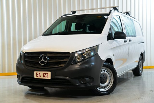 Used Mercedes-Benz Vito 447 119 BlueTEC LWB Crew Cab Hendra, 2017 Mercedes-Benz Vito 447 119 BlueTEC LWB Crew Cab White 7 Speed Automatic Van
