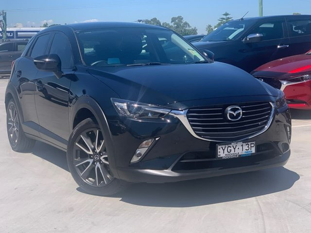 Used Mazda CX-3 DK2W7A sTouring SKYACTIV-Drive Liverpool, 2016 Mazda CX-3 DK2W7A sTouring SKYACTIV-Drive Black 6 Speed Sports Automatic Wagon