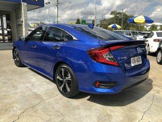 2017 Honda Civic 10th Gen MY17 RS Blue 1 Speed Constant Variable Sedan.