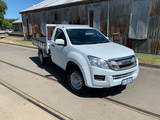 2014 Isuzu D-MAX MY14 SX White 5 Speed Sports Automatic Cab Chassis.