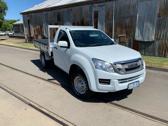 Used Isuzu D-MAX MY14 SX Launceston, 2014 Isuzu D-MAX MY14 SX White 5 Speed Sports Automatic Cab Chassis