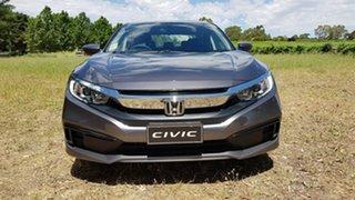 2020 Honda Civic 10th Gen MY20 VTi Modern Steel 1 Speed Automatic Sedan.