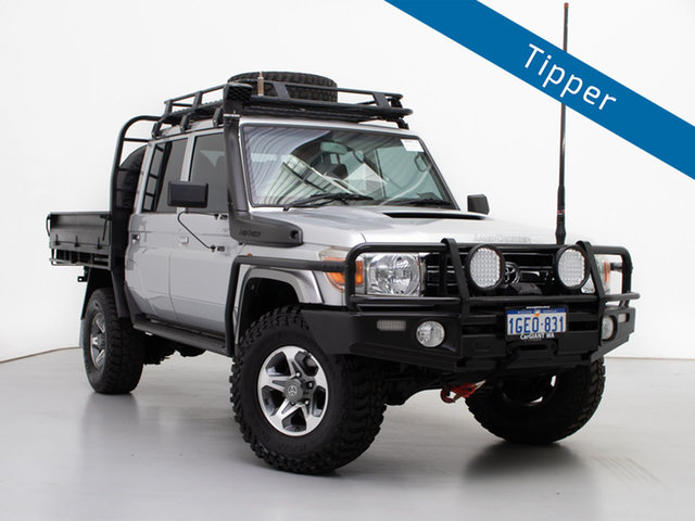 Used Toyota Landcruiser VDJ79R MY12 Update GXL (4x4), 2015 Toyota Landcruiser VDJ79R MY12 Update GXL (4x4) Silver 5 Speed Manual Double Cab Chassis