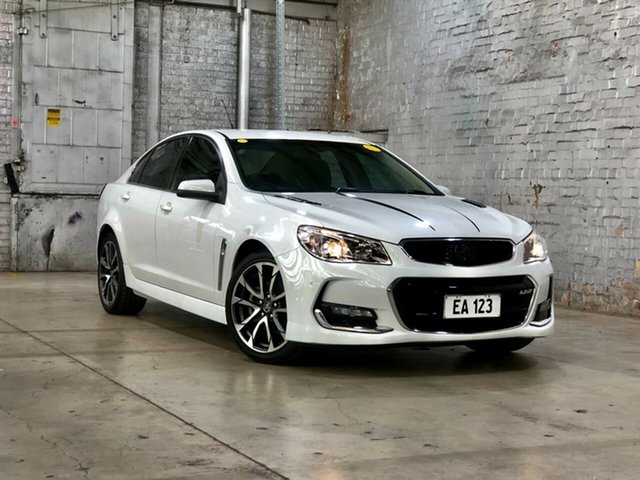 Used Holden Commodore VF II MY16 SS V Mile End South, 2015 Holden Commodore VF II MY16 SS V White 6 Speed Manual Sedan