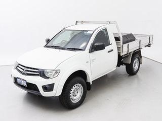 2011 Mitsubishi Triton MN MY11 GLX (4x4) White 5 Speed Manual 4x4 Cab Chassis