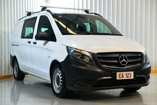 2017 Mercedes-Benz Vito 447 119 BlueTEC LWB Crew Cab White 7 Speed Automatic Van