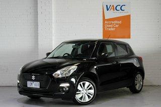 2019 Suzuki Swift AZ GL Navigator Black 1 Speed Constant Variable Hatchback.