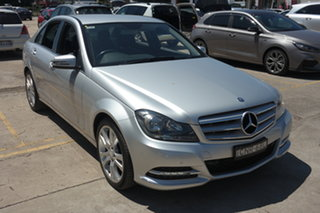 2013 Mercedes-Benz C-Class W204 MY13 C250 7G-Tronic + Elegance Silver 7 Speed Sports Automatic Sedan.