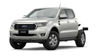 2021 Ford Ranger PX MkIII 2021.25MY XLT Double Cab White 6 Speed Sports Automatic Double Cab Chassis.