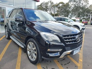 2014 Mercedes-Benz M-Class W166 MY805 ML350 BlueTEC 7G-Tronic + Black 7 Speed Sports Automatic Wagon.