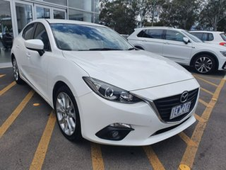 2015 Mazda 3 BM5236 SP25 SKYACTIV-MT White 6 Speed Manual Sedan.