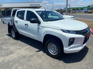 2020 Mitsubishi Triton MR MY21 GLX Double Cab ADAS White 6 Speed Sports Automatic Cab Chassis.