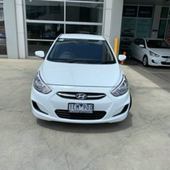 2015 Hyundai Accent RB2 MY15 Active White 6 Speed Manual Sedan.