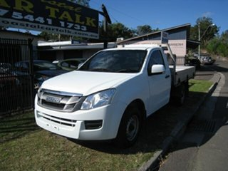 2015 Isuzu D-MAX TF MY15 SX (4x2) White 5 Speed Manual Cab Chassis.