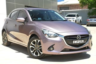 2014 Mazda 2 DJ2HAA Genki SKYACTIV-Drive Purple 6 Speed Sports Automatic Hatchback.