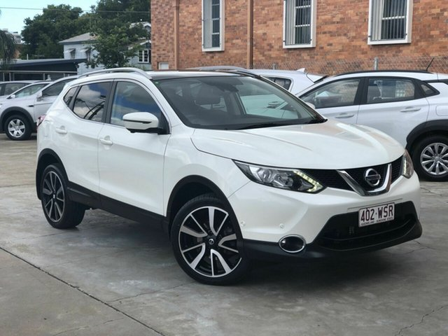 Used Nissan Qashqai J11 TI Chermside, 2016 Nissan Qashqai J11 TI Pearl White 1 Speed Constant Variable Wagon