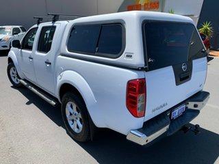 2014 Nissan Navara D40 S7 ST White 5 Speed Sports Automatic Utility.