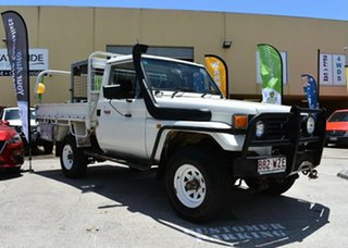 1994 Toyota Landcruiser HZJ75RP (4x4) White 5 Speed Manual 4x4 Cab Chassis
