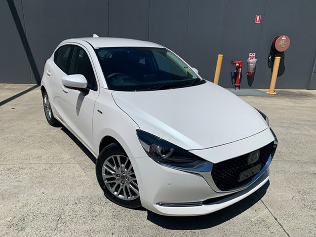 New Mazda 2 DJ2HAA 100th Anniversary SKYACTIV-Drive Alexandria, 2020 Mazda 2 DJ2HAA 100th Anniversary SKYACTIV-Drive Snowflake White 6 Speed Sports Automatic