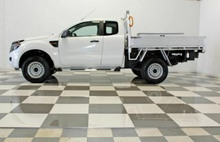 2013 Ford Ranger PX XL 2.2 Hi-Rider (4x2) White 6 Speed Automatic Super Cab Chassis