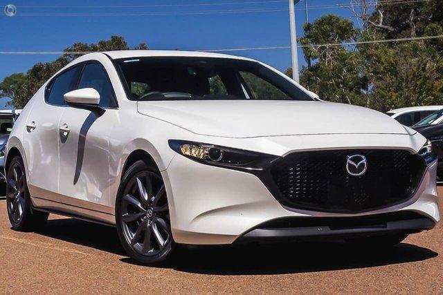 New Mazda 3 BP2HLA G25 SKYACTIV-Drive Evolve Waitara, 2020 Mazda 3 BP2HLA G25 SKYACTIV-Drive Evolve White 6 Speed Sports Automatic Hatchback