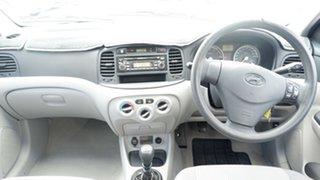 2007 Hyundai Accent MC MY07 S White 5 Speed Manual Sedan