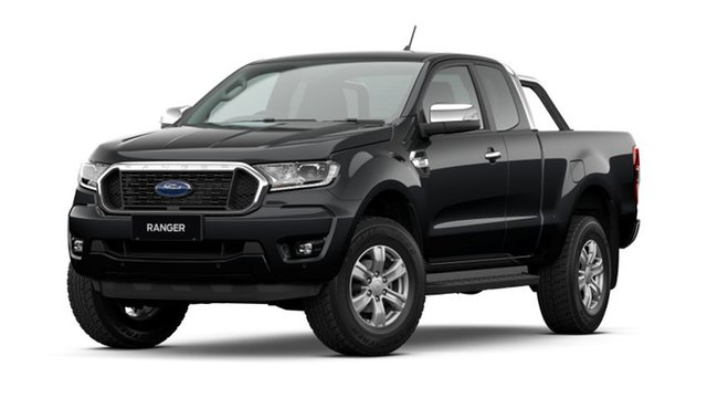 New Ford Ranger PX MkIII 2021.25MY XLT Townsville, 2021 Ford Ranger PX MkIII 2021.25MY XLT Shadow Black 6 Speed Sports Automatic Super Cab Pick Up