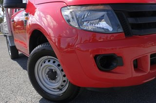 2013 Ford Ranger PX XL Red 5 Speed Manual Cab Chassis.