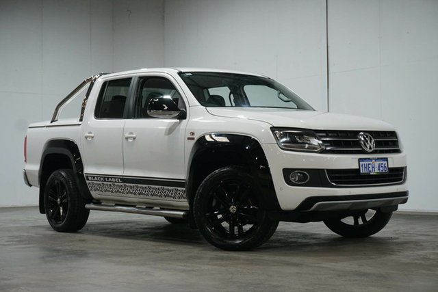 Used Volkswagen Amarok 2H MY15 TDI420 4Motion Perm Ultimate Welshpool, 2015 Volkswagen Amarok 2H MY15 TDI420 4Motion Perm Ultimate Candy White 8 Speed Automatic Utility