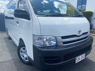 2007 Toyota HiAce KDH223R MY08 Commuter High Roof Super LWB White 4 Speed Automatic Bus.