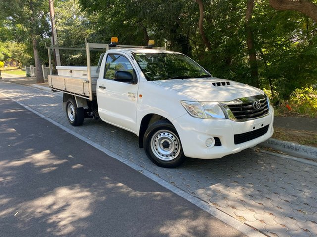Pre-Owned Toyota Hilux KUN16R MY14 SR Xtra Cab 4x2 Hawthorn, 2014 Toyota Hilux KUN16R MY14 SR Xtra Cab 4x2 White 5 Speed Manual Utility