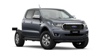 2020 Ford Ranger PX MkIII 2021.25MY XLT Double Cab Meteor Grey 10 Speed Sports Automatic