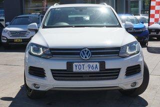 2012 Volkswagen Touareg 7P MY13 150TDI Tiptronic 4MOTION White 8 Speed Sports Automatic Wagon.