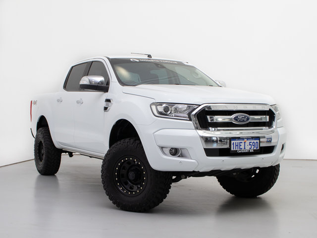 Used Ford Ranger PX MkII MY18 XLT 3.2 (4x4), 2018 Ford Ranger PX MkII MY18 XLT 3.2 (4x4) White 6 Speed Manual Double Cab Pick Up