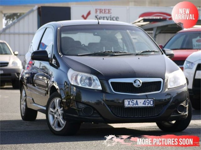 Used Holden Barina TK MY10 Cheltenham, 2010 Holden Barina TK MY10 Black 5 Speed Manual Hatchback