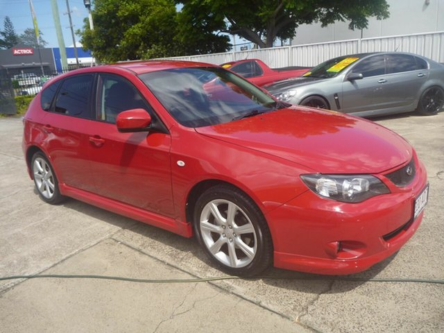 Used Subaru Impreza G3 MY08 RS AWD Morayfield, 2008 Subaru Impreza G3 MY08 RS AWD Red 4 Speed Sports Automatic Hatchback