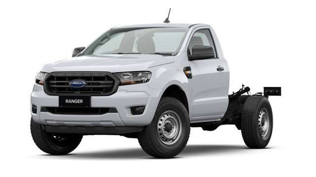 New Ford Ranger PX MkIII 2021.25MY XL Emerald, 2020 Ford Ranger PX MkIII 2021.25MY XL Arctic White 6 Speed Sports Automatic Single Cab Chassis