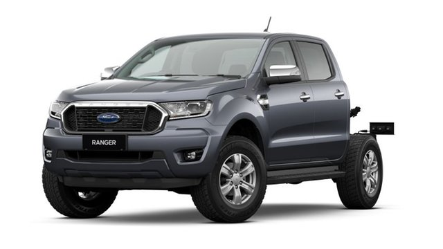 New Ford Ranger PX MkIII 2021.25MY XLT Double Cab Hamilton, 2021 Ford Ranger PX MkIII 2021.25MY XLT Double Cab Meteor Grey 10 Speed Sports Automatic