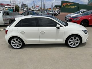 2013 Audi A1 8X MY13 Ambition S Tronic White 7 Speed Sports Automatic Dual Clutch Hatchback