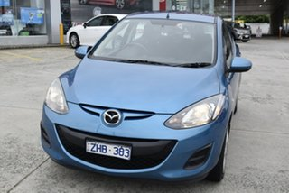 2012 Mazda 2 DE10Y2 MY12 Neo Blue 4 Speed Automatic Hatchback.