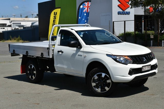 Used Mitsubishi Triton MQ MY18 GLX Underwood, 2018 Mitsubishi Triton MQ MY18 GLX White 5 Speed Manual Cab Chassis