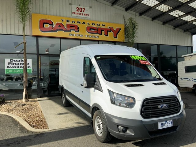 Used Ford Transit VO 350L LWB High Roof Traralgon, 2016 Ford Transit VO 350L LWB High Roof White 6 Speed Manual Van