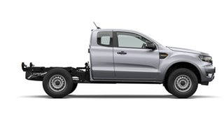 2021 Ford Ranger PX MkIII 2021.25MY XL Aluminium Silver 6 Speed Sports Automatic Super Cab Chassis