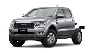 2021 Ford Ranger PX MkIII 2021.25MY XLT Double Cab Aluminium Silver 6 Speed Sports Automatic.