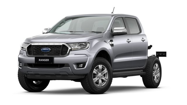New Ford Ranger PX MkIII 2021.25MY XLT Double Cab Victoria Park, 2020 Ford Ranger PX MkIII 2021.25MY XLT Double Cab Aluminium Silver 10 Speed Sports Automatic