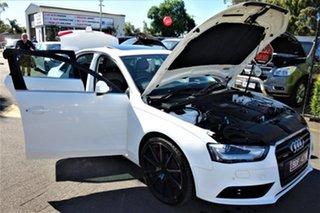 2012 Audi A4 B8 8K MY13 S Tronic Quattro White 7 Speed Sports Automatic Dual Clutch Sedan