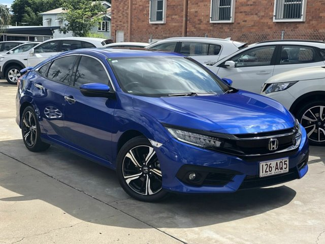 Used Honda Civic 10th Gen MY17 RS Chermside, 2017 Honda Civic 10th Gen MY17 RS Blue 1 Speed Constant Variable Sedan