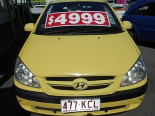 2006 Hyundai Getz TB MY06 Yellow 5 Speed Manual Hatchback.