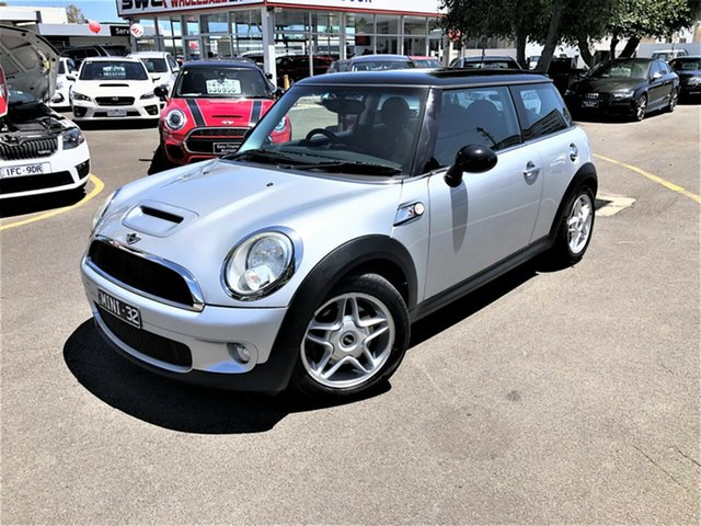 Used Mini Hatch R56 Cooper S Seaford, 2007 Mini Hatch R56 Cooper S Silver 6 Speed Sports Automatic Hatchback